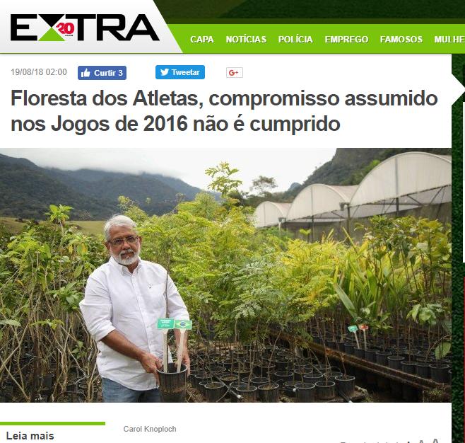 Floresta dos Atletas notícias Jornal EXTRA